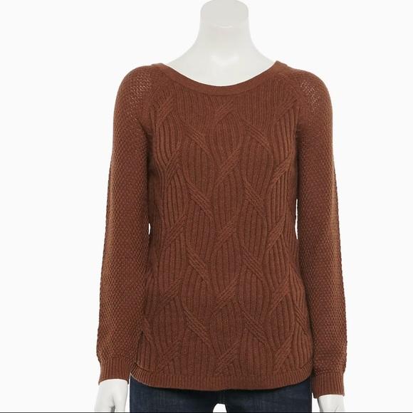NWT! Sonoma Trellis Raglan-Sleeve Sweater